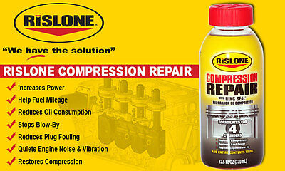 For All JEEP vehicles    Rislone Compression Repair with Piston Ring Seal