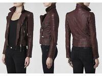 ALLSAINTS Oxblood Leather Biker Jacket - Good as new