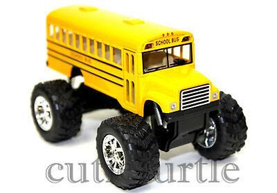 Big Foot Monster Long School Bus Truck 4X4 5  Yellow Ks5108