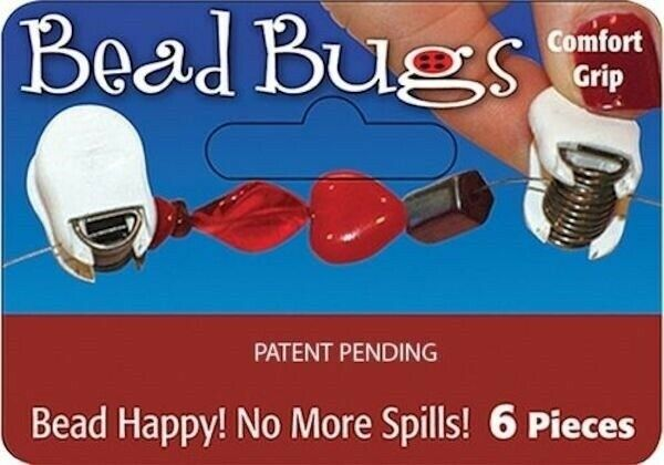 6 Regular Bead Bugs with Comfort Grips to Hold Beads in Place While Stringing! `