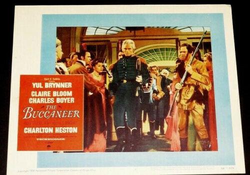 BUCCANEER, The - orig 1958 DeMille epic Char HESTON as Andrew Jackson Lob Cd 4