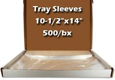Dental Tray Sleeve Clear, Plastic 500/Bx 10.5