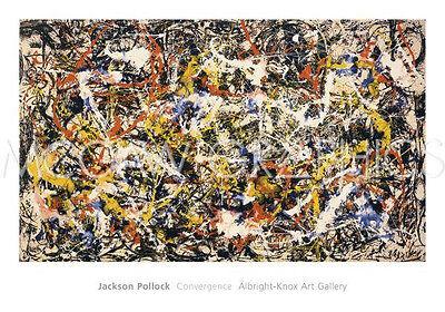 "POLLOCK JACKSON - CONVERGENCE - ARTWORK REPRODUCTION  40"" x 28""   (996)"