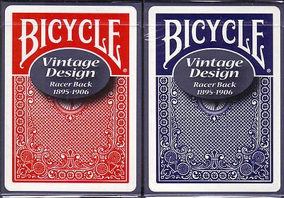 2 Vintage Bicycle Racer Back Playing Cards Red & Blue! Ohio made!