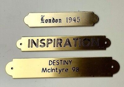 Engraved Brass Ornamental Name Plate