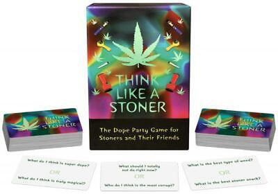 Think Like a Stoner Easy to Play Adult Party Game for Your Weed Loving Friends