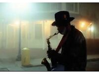 Saxophone player ready for your event