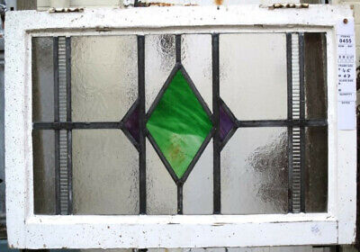 Stained Glass Window Original 1930's Coloured Leaded Panels.