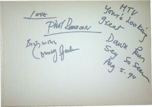 Dawn-Penn-SIGNED-AUTOGRAPHS-RARE-MTVs-Most-Wanted-Guest-Book-Page-AFTAL-UACC-RD