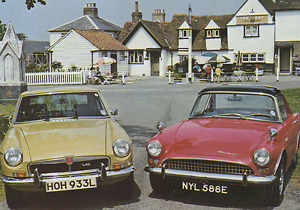 1961 Sunbeam Alpine and 1970 MGB Convertibles