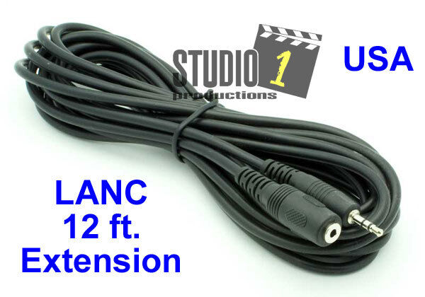 12 ft LANC Remote Extension Cable - For all LANC controllers - USA Seller