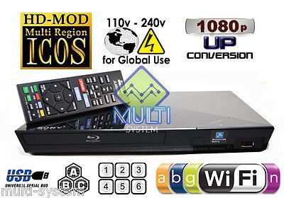 USED Sony BDP-S3200 Multi Zone Region Code Free DVD Blu-Ray Disc Player - WiFi