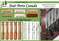 Stair Treads - Iron Balusters - Box Newel Post - Handrails +