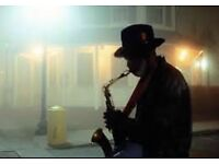 saxophone player ready for your any event