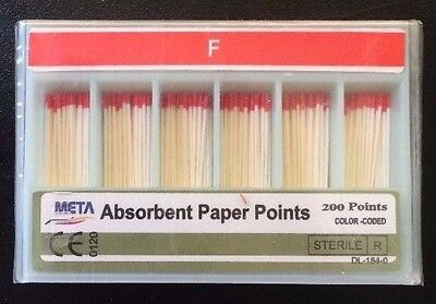 Dental Paper Points Fine 10x Of 200pk 2000 Total Pieces