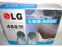 LG MULTI-MEDIA SPEAKER SYSTEM Pair of metal speakers LG – LGS-4000, 480w