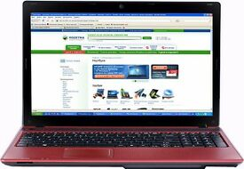 """Acer Aspire 5742 Laptop Red Intel Core i5 i5-480M 2.66 GHz 750GB 15.6"""" LCD"""