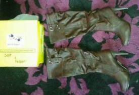 Ladies brown knee high boots size 7 new