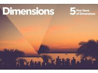 ** 2x Dimensions Festival Tickets for sale! **