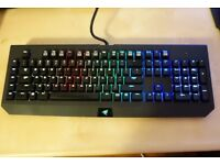 Razer BlackWidow Chroma Gaming Keyboard Clicky Mechanical Switches (UK Layout)