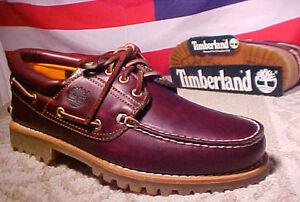 New-Mens-TIMBERLAND-Classic-Heritage-3-Eye-Classic-Lug-Shoes-Burgundy-50009
