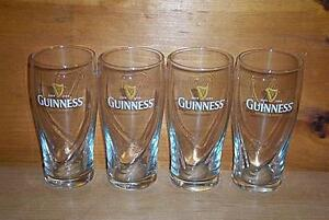 GUINNESS STOUT 4 GALAXY STYLE BEER PINT GLASSES NEW
