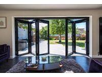 Beautiful 4 Leaf Black Origin Bi Fold Doors
