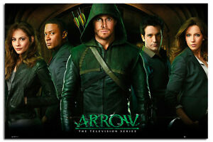 Arrow-TV-Series-Group-Large-Wall-Poster-New-Maxi-Size-36-x-24-Inch