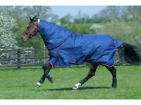 JHL Heavyweight Turnout Rug with Matching detachable Hood 6'6""