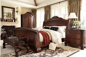 ASHLEY QUEEN BED ONLY FROM $288 !!!!!!!!