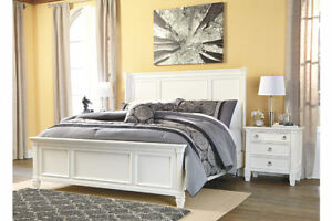 Ashley Furniture Prentice King Panel Bed & 2 night stands