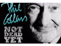 4 tickets Phil Collins Liverpool Block 8 Row RR face value 76 each, only sell all 4 together