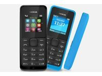NOKIA 105 - DUAL SIM MOBILE PHONE - BRAND NEW - UNLOCKED