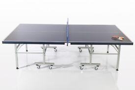 Indoor Table Tennis Table, full size 'Pure Sport Deluxe Indoor Table' Blue