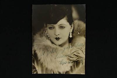 NobleSpirit {3970} Very Rare 1920's Hungarian Film Actress Lya De Putti Photo