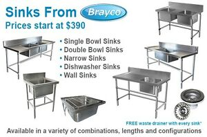 STAINLESS STEEL SINKS AND HANDBASINS FROM $89.00 Osborne Park Stirling Area Preview