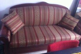 Järnforsen Mahogany 3 seats Sofa bed