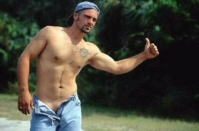 Shirtless Male Athletic Hunk Hitchhiking Dude Jeans Undone PHOTO 4X6 C2117
