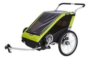 Remorque Multisport Chariot Cheetah XT 2 (double) - Chartreuse