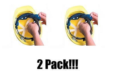 Occunomix Terry Topper (2 Pack! OccuNomix Navy Blue Toppers Terry Cloth Hard Hat Head Sweatband Snap-On)