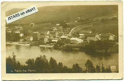 c. 1924 AAMLI, NORWAY, AMLI PANORAMIC TOWN VIEW POSTCARD RPPC