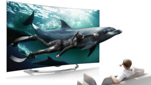 "A Toshiba 47"" 1080P 240Hz 3D LED Smart HD TV"
