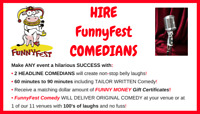Comics for Hire from FunnyFest Comedy Society