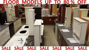 FLOOR MODELS up to 80 % OFF! Vanity, cabinet, kitchen, bathroom