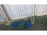 puddle pump/dirty water remover and hoses