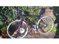 Black genesis racing road bike xzx