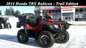 Honda TRX 500 with snow plow and 5x7 galvanized utility trailer