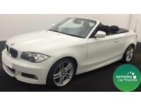£256.22 PER MONTH WHITE 2010 BMW 118I 2.0 M SPORT CONVERTIBLE PETROL MANUAL