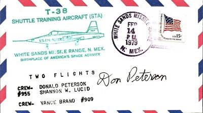 DONALD PETERSON Signed T-38 Shuttle Training Aircraft Cover
