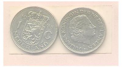 2 x 1 gulden 1972 et 1980  Nederland + boutique